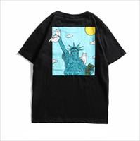 usa kleidung für männer großhandel-Ripndip Katze Designer T-Shirt Männer USA drucken Lustige T-Shirt Sommer Baumwolle Männer kleiden Hip Hop Street Wear