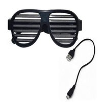 Wholesale voice controlled bulb for sale - Group buy Spacer glasses flash voice control glasses RGB three colors automatically follow the music change cool full punk fan sense of technology