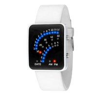 relógios de estilo japonês venda por atacado-2019 superior novo mulheres e homens estilo japonês futurista multicolor LED esporte relógio de pulso de silicone digital relógio de pulso pulseira