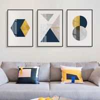 Wholesale abstract paintings for bedroom for sale - Group buy Abstract Geometry Blending Canvas Painting Posters and Prints Wall Pictures for Living Room Modern Decoration for Bedroom Aisle