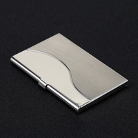 Wholesale wallet modern resale online - New Fashion Metal Wallet Sliver Color Multi Designs Business Card Clip High Quality Id Cards Holder Portable sxa E1