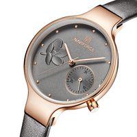 couro j marca venda por atacado-Mulheres Relógios Top Marca de Luxo Senhoras Relógio de Quartzo Feminino Couro Genuíno Relógio de Pulso Fino Moda Casual Relógio Relogio feminino J 190505