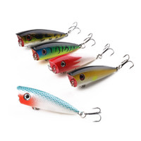 Wholesale poper bait for sale - 5pc cm g Topwater Popper Fishing Lures Floating Bass Crank Baits Wobbles Swimbait Fishing Tackle Artificial Poper Jigging Lure