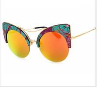Wholesale korea women sunglasses resale online - Korea Men and women sunglasses Reflective sunglasses Street beat glasses