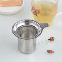 gute filter groihandel-Edelstahlgewebe Teesieb Good Grade Reusable Teesieb lose Teeblatt-Filter Metall Teas Seiher Herbal Spice Filter DBC BH2721