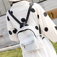 Wholesale small white korean backpacks resale online - Female Mini Backpack Women Korean Style PU Leather Shoulder Bag For Transparent Exquisite Multi Function Small Bagpack