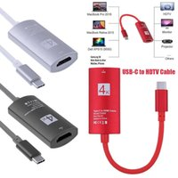 Wholesale macbook thunderbolt hdmi for sale - Group buy 4K USB USB C Type C to HDMI cable HDTV hdmi Adapter Thunderbolt Cable for Galaxy S9 S8 Mate Macbook