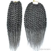 6'lı saç uzatma toptan satış-12 inç Senegal Büküm Tığ Saç Stilleri 6 adet / grup Sentetik Tığ Örgüler Saç Uzantıları ucuz Kanekalon fiber büküm saç