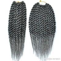 ingrosso 12 pollici estensioni sintetiche dei capelli-12 pollici Senegal Twist Crochet Hair Styles 6 pz / lotto Sintetico Crochet Trecce Estensioni dei capelli economici Kanekalon fibra twist capelli