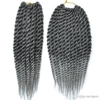 12 zoll verlängerungen haar synthetisch großhandel-12 Zoll Senegal Twist Häkeln Frisuren 6pcs / lot Synthetische Häkeln Zöpfe Haarverlängerungen billig Kanekalon Faser Twist Haar