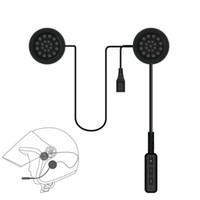 Wholesale motorbike headset resale online - V4 EDR Motorcycle Helmet Headset Wireless Bluetooth Headphone Speaker Handsfree Music Automatic Call Answer for Motorbike