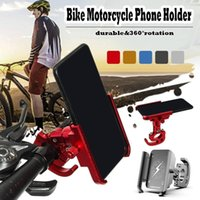Wholesale aluminum smart phone holder for sale – best Aluminum Alloy Bike Motorcycle Phone Holder Stand Rotation For Inch Inch Smart Phone Mountain Road Bike Rack