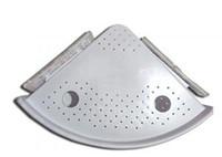 retângulo venda por atacado-Prateleira de canto fixado na parede do banheiro Multi-função prateleira snapup prateleira do banheiro de plástico prateleira de cozinha acessórios do banheiro VVA331
