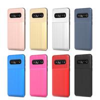 zırh çift katmanlı örtü toptan satış-Hibrid Zırh Vaka Samsung Galaxy S10E S10 Artı Huawei P30 Pro P Akıllı 2019 Nova 4 Çift Katmanlı Koruyucu Kapak D