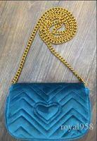 yeni tasarım markalı çanta toptan satış-2019 Marka Yeni Tasarım Sıcak kadın Kadife Çanta Omuz Mesaj Zincir Çanta Daha Fazla Renk godd kalite Ücretsiz Kargo