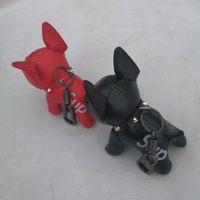 schlüsselring hund großhandel-New Law Dog Fashion Anhänger Kunstleder Hund Law Fighting Schlüsselanhänger Autoschlüssel Ring Paar Geschenk Geburtstagsgeschenk Mode-Accessoires