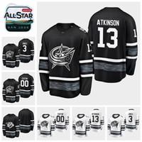 juegos de cam al por mayor-2019 All Star Game 13 Cam Atkinson Personalizar Columbus Chaquetas azules Camisetas de hockey Jersey blanco negro 3 Camisas cosidas Seth Jones
