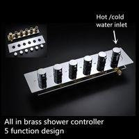 neue design armaturen groihandel-Neues design 5 funktion dusche wasserhahn messing dusche ventil dusche controller 20180927 #