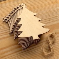 Wholesale chips board resale online - Christmas Wood Chip Tree Ornaments Xmas Hanging Pendant Party Wedding Birthday Decoration Board Arts Crafts Gifts PPA186