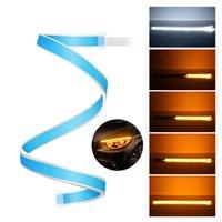 luz de conducción diurna flexible led al por mayor-2 unids Ultrafine 30 cm 45 cm 60 cm DRL Flexible Estilo de tubo LED Señal de giro Lámparas de freno Luces diurnas Luces de rasgadura Faros delanteros
