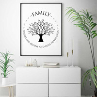 Wholesale wall art black white tree canvas for sale - Group buy Home Decor Nordic Style Prints Tree Painting Pictures Wall Art Modular Canvas Black White Minimalist Poster Modern For Bedroom
