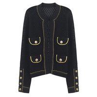 italienische modekleidung großhandel-2019 marke mode luxus designer frauen pullover italienische mode marke strickjacke pullover frauen casual pullover kleidung größe s-l