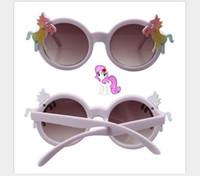 lila sonnenbrille kinder großhandel-Lila Pony-Baby-Sonnenbrille für Kinder