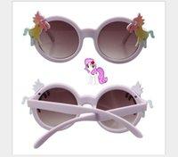 ingrosso occhiali da sole viola bambini-Occhiali da sole Purple Pony Baby per bambini