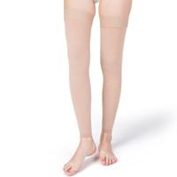 calcetines de los hombres del muslo al por mayor-Calcetines de compresión VARCOH para mujeres, hombres, 20-30 mmHg Soporte médico Medias de muslo altas para viajar, correr, enfermeras, espinillas, varices