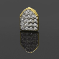 Wholesale alloy deco for sale - Group buy Hip Hop Single Gold Silver Teeth Grillz Cap Top Bottom Dental Grill for Halloween Gifts Bling Custom Teeth Micro Rhinestone Deco Jewelry