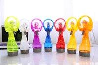 Wholesale water spraying fans for sale - Group buy Portable Handheld Cooling Spray Fan Mini Hand Held Water Spray Mist Fan Bottle Mist Sport Beach Small Electronic Sprayer Fans SN2334