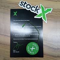 pegatinas de tarjetas al por mayor-Stock X OG Código QR Etiqueta StockX Tarjeta Verde Etiqueta Circular Plástico Verificado Auténtico Zapato Hebilla Nuevos accesorios de la llegada