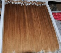 saç uzatmaları renk 27 toptan satış-Sarışın Renk 27 # U İpucu saç uzantıları brezilyalı Düz İnsan keratin remy saç u İpuçları 1 g / s 200 s / grup ön gümrük İnsan saç uzantıları