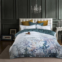 Wholesale european bedspreads for sale - Group buy European Egyptian cotton bed linen Soft Satin bedding floral pastoral duvet cover pillowcases bedspreads sets