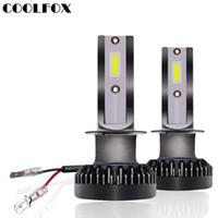ingrosso lampadine auto led-COOLFOX Faro principale per auto H7 8000lm Lampada Bulbo H1 mini Led Kit H11 9006 9005 hb3 hb4 Faro potente LED 12 Volt