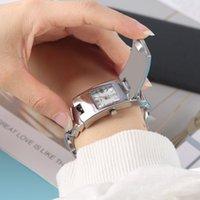 sport magnetischen armband großhandel-Armbanduhr Frauen Quarz Sport Magnetische Uhr Mode Legierung Rechteck Zifferblatt Handgelenk Einzigartige Armbänder Uhren reloj