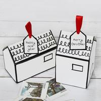 konut paketi toptan satış-12 adet / grup Kağıt Zanaat Hediye Kutuları Beyaz Saray Şekli Hediye Paketi Kek Şeker Kutusu Düğün Iyilik ve Hediyeler Kutusu Parti Kaynağı