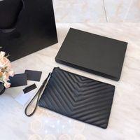 marka l çanta toptan satış-Y ve S ve L toptan 5A kalite lüks Tasarımcı marka çanta Tasarımcısı Debriyaj Çanta kutu Ile gerçek deri Çanta Tasarımcıları cüzdan