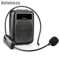 amplificador para reproductor de mp3 al por mayor-Micrófono inalámbrico Tr503 + Amplificador de Voz Portátil Altavoz Con Radio FM Reproductor de Mp3 Pr16r Para la Formación Docente T190704