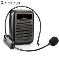 Wholesale amplifier for mp3 player resale online - Wireless Microphone Tr503 Portable Voice Amplifier Loudspeaker With Fm Radio Mp3 Player Pr16r For Teacher Training T190704