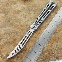 ingrosso coltello bm47-Coltello lama per allenatore Lama 440C manico in ACCIAIO coltello dorato non affilato bm42 bm43 bm47 bm49