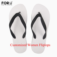 Wholesale heels sandals images resale online - FORUDESIGNS Woman Summer Flip Flop Custom Your Image Name Print Diy Your Own Design Beach Flipflops Outdoor Sandals Slipper
