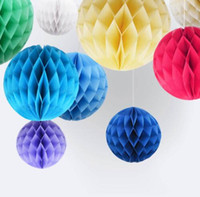 Wholesale pc honeycomb online - 6 Inch cm Hanging paper honeycomb ball for Christmas Decoration wedding supplies holiday decorations per OPP packaging SKU A488