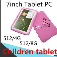 Wholesale windows tablet pc 4gb for sale - Group buy Kids Brand Tablet PC inch Quad Core children tablet Android Allwinner A33Tablet Data player wifi big speaker protective cover G G