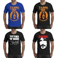 Wholesale champions shirts for sale - Group buy Fashion Mens printing Frank Zappa Swiss Cheesefire t shirt black Personalised Champion Shirts Urban Finer Moments Burnt Weeny Sandwich