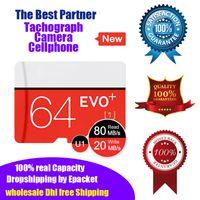 tarjeta micro sd uhs al por mayor-Tarjeta de memoria EVO Plus U1 C10 Class10 de 64 gb Tarjeta Micro Sd TF UHS-I HD 100% Capacidad real Microsd Epacket DHL