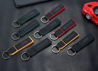 cordons doux achat en gros de-Tour de luxe en métal de la fourrure AMG BMW Motorsport Sport Key Chain Keychain pour voiture de téléphone portable