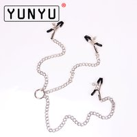 Wholesale g clamp sex resale online - Adult Sex Toys Three Breast Metal Clips Female Lips Clitoris G Point Nipple Clamps Clitoris Clip Iron Chain Adult Game C18122501