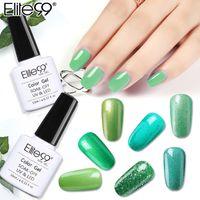 unhas verdes uv gel polonês venda por atacado-Elite99 Soak Off Verde Série Gel Polish 10ml LED Gel UV de verniz para unhas Primer vernizes UV Nail Art Manicure Arte Pintura