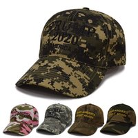 Wholesale design baseball caps online - Trump General Election Baseball Cap Outdoor Sports Camouflage Hat Curved Eaves Design Sunscreen Colorful Hot Sales Gift dsb C1